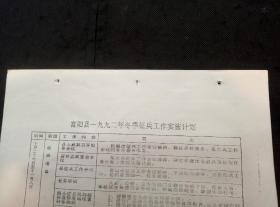 富阳县一九九二年冬季征兵工作实施计划