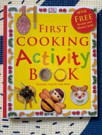 First cooking activity book 精装 烘焙 儿童英文绘本 生活实用 DK 八五品