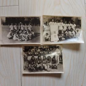 50年代黑白老照片:东北电业排球比赛 3张合售