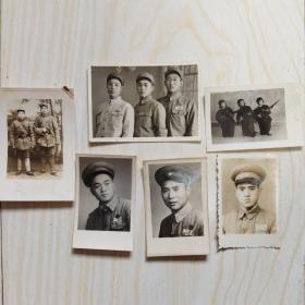 五十年代中国人民解放军 军装照片 6张合售