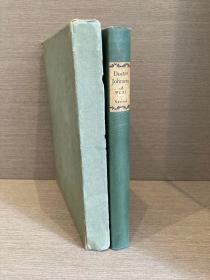 Doctor Johnson: A Play(爱德华·纽顿《约翰生博士》,限印585册,作者亲笔签名,配插图,布脊精装,毛边好纸未裁,带书匣,1923年初版)