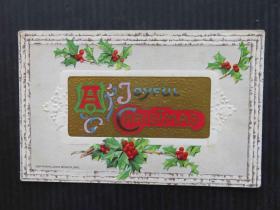 欧美风-手账复古集邮收藏彩色外国邮政明信片-圣诞贺卡