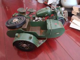 纯铁皮打造,南昌飞机制造厂 国营洪都机械制造厂 CJ750摩托车车模。