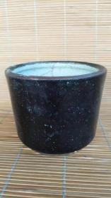 清代乌金釉香炉