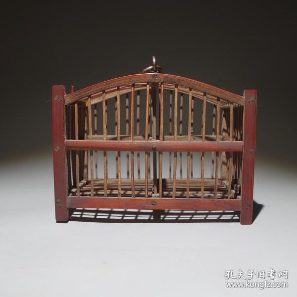 民国竹笼鸟笼文房摆件装饰古玩古董民俗杂项竹雕竹编竹制品老物件