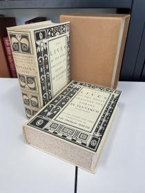 the lives of the noble grecians and romans《希腊罗马名人传》Plutarch 普鲁塔克史学经典名著  Heritage Press 1941年出版 全两卷注释版 布面精装带书匣