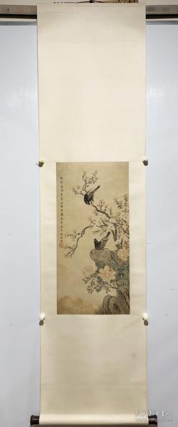 马家桐。  绢本花卉 。 真迹,保真出售。