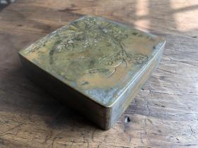 西北军将领铜墨盒