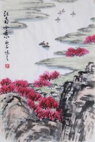 【自写自销】当代艺术家协会副主席王丞手绘 !江南小景20234