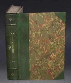 1936年Constance Rourke - AUDUBON《鸟王奥杜邦传》摩洛哥羊皮手工烫金精装全插图本 大量木刻及彩图 增补精美插图 大开本 品绝佳