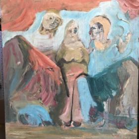 9-26 带框 著名油画家  申玲