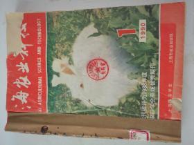 上海农业科技(双月刊)  1990年(1-6)期  合订本  (馆藏)