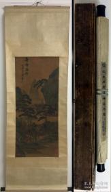 关仝(传)-历代著录作品-《奇峰高寺图》(议价)
