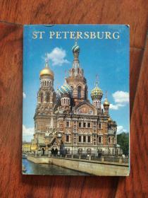 (俄文原版,明信片) 圣彼得堡 Петербург(一套12张)