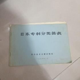 1974年版【日本专利分类简表】科技文献出版社、1974年1月 库4/7