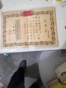 结婚证(一对)【北京市宣武区,1957】
