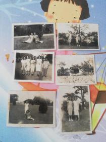 民国老照片  旗袍美女合照6张