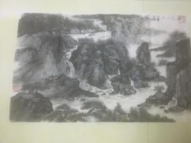 王琦中国画作品一件;莫道山户草屋陋