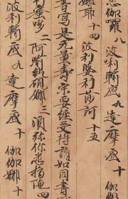敦煌遗书 法藏 P4670大乘无量寿经法成。纸本大小32*220厘米。宣纸艺术微喷复制。