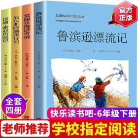 全套4册快乐读书吧六年级下册必读课外书阅读书籍经典书目 鲁滨逊