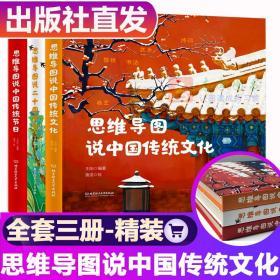 全3册 思维导图说中国传统文化 传统节日 二十四节气 看故事学知识念古诗国学历史启蒙书籍