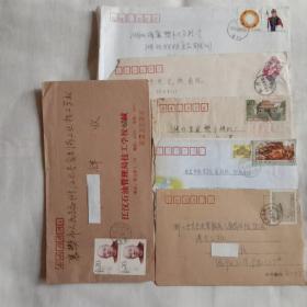 1999一11,8分邮票实寄封等六枚。