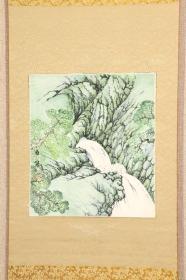 回流字画 回流书画 《碧涧流泉》作者:白泉 只是画心不含装裱 卡纸色纸画 日本回流字画 日本回流书画