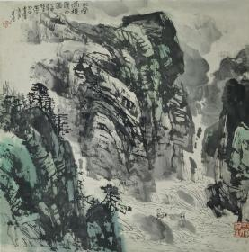 唐世民 川南雨后晴山图 67.5X67