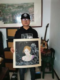 天津美院青年画家夏晓亮老师人物精品带合影