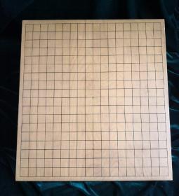 日本昭和早期榧木围棋墩 板目木里整木制作