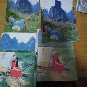 游桂林山水明信片4枚合售7