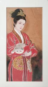 中美协会员,青年画家杨晓星老师展览原作,出版原作精品,有合影