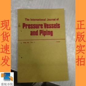 英文书 the  international  journal   of  pressure  vessels  and   piping 1986 3  国际压力容器与管道杂志1986.3