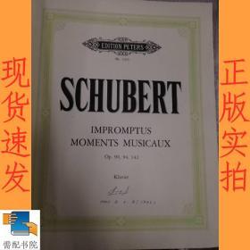 英文书 schubert impromptus und moments musicaux  舒伯特即兴音乐
