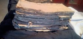民国版徐氏宗谱10多本,有粘连破损,内页不全部细拍,需要处理价,
