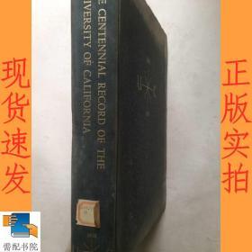 英文书   the  centennial  record  of  the   university   of   california      加州大学百年记录
