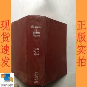 英文书    the  journal    of   modern   history     1986    1-4  V0L  58   现代史杂志1986 1-4 V0L 58