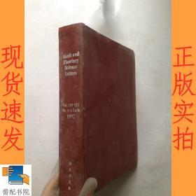 英文书    earth   and  planetary  science   letters      1992    vol 110-111  地球和行星科学快报1992卷110-111