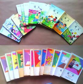 90年代八零后九零后人教版六年制小学语文课本全套数学课本全套全彩版童年六年制小学语文数学课本教科书教材语文12册全套数学12册全套共24本合售