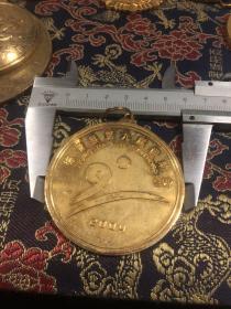 2004年  德清县第九届运动会  金属纪念章  尺寸如图
