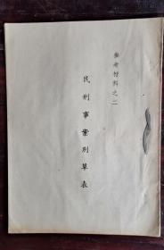 民刑事案件草表 参考资料之二 50年版 包邮挂刷