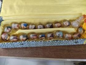 创汇产品内画手绘十八罗汉手持手串