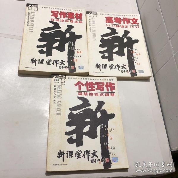 新课堂作文丛书;个性写作、写作素材、高中作文【3本合售】