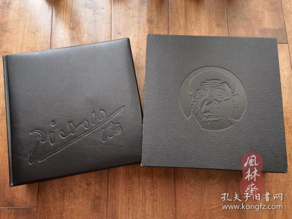 毕加索诞生百周年特别出版《156版画连作集》8开243图特殊印刷 限定1200部14万日元!真皮特装 日本首度发行