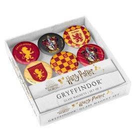 预售哈利波特格兰芬多冰箱磁铁贴Harry Potter: Gryffindor Glass Magnet Set: Set of 6