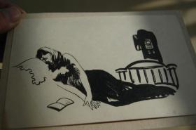 图书插图画稿4张(北京服装设计中心 赵梅秋画稿)