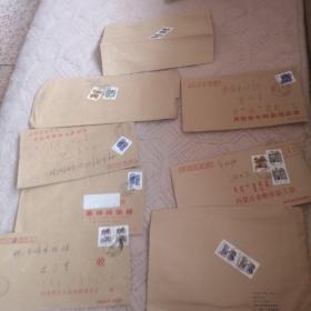 贴普通民居邮票———实寄封8枚合售(参考图片)
