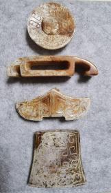 战汉时期玉剑饰一套