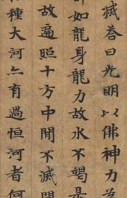 敦煌遗书 法藏 P4933大智度论手稿。纸本大小30*75厘米。宣纸艺术微喷复制。非偏远包邮