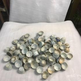 清代早期青花陶瓷杯80个41